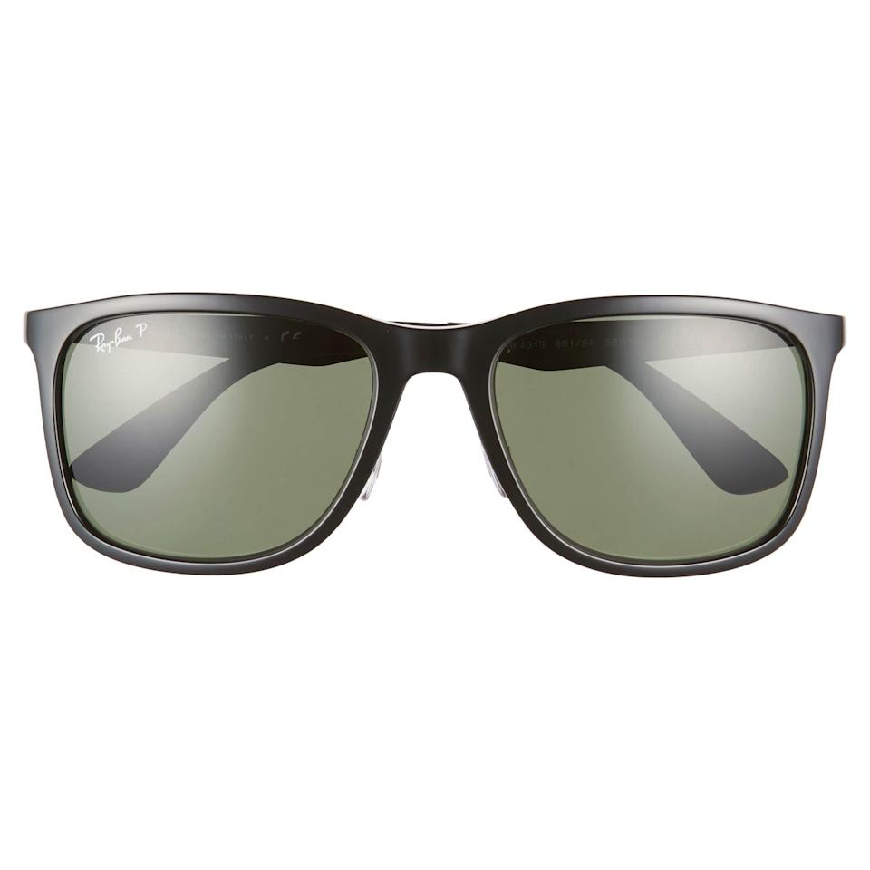 """<p><strong>Ray-Ban</strong></p><p>nordstrom.com</p><p><a href=""""https://go.redirectingat.com?id=74968X1596630&url=https%3A%2F%2Fwww.nordstrom.com%2Fs%2Fray-ban-58mm-polarized-sunglasses%2F5094927&sref=https%3A%2F%2Fwww.esquire.com%2Fstyle%2Fmens-fashion%2Fg35967248%2Fnordstrom-mens-sale-march-2021%2F"""" rel=""""nofollow noopener"""" target=""""_blank"""" data-ylk=""""slk:Shop Now"""" class=""""link rapid-noclick-resp"""">Shop Now</a></p><p><strong><del>$189.00</del> $151.20 (20% off)</strong></p><p>Future's so bright...</p>"""