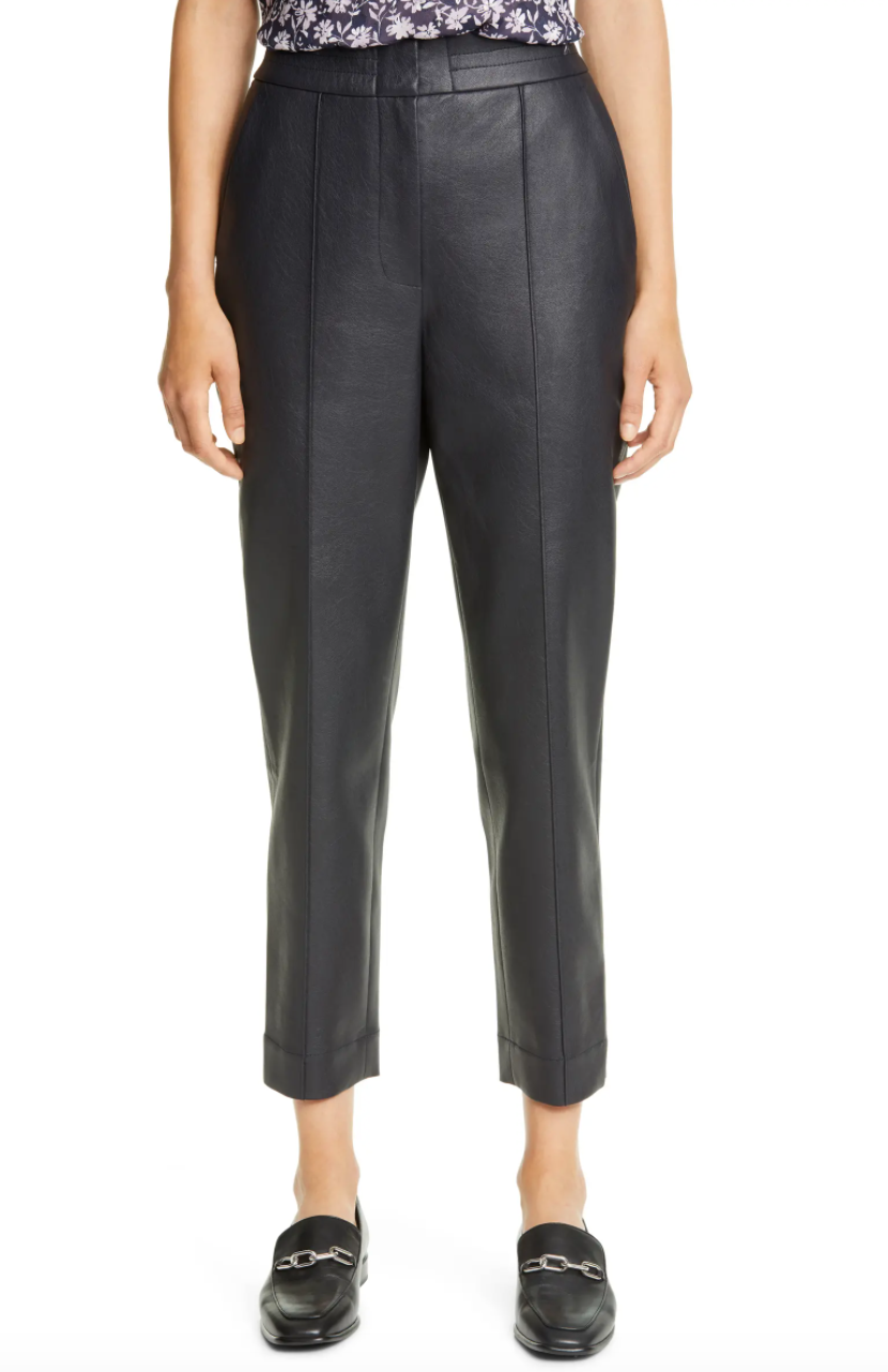 Rebecca Taylor Faux Leather Pants. Image via Nordstrom.