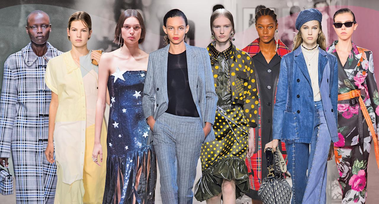 <p>Here is your SS18 Fashion Week trend report. (Photo: ImaxTree, Art: Quinn Lemmers for Yahoo Lifestyle) </p>