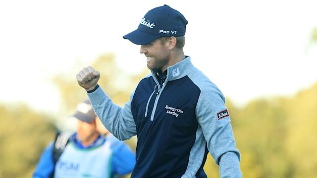 Tyler Duncan, 30, celebrated his first career win thanks to a birdie on the second extra hole against Webb Simpson on Sunday.