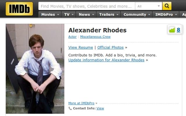 Reddit Makes Alexander Rhodes More Famous Than Tom Cruise