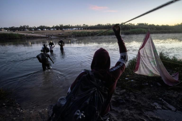Tens of thousands of migrants, many of them Haitians previously living in South America, have arrived in recent weeks in Mexico hoping to enter the United States (AFP/PEDRO PARDO)