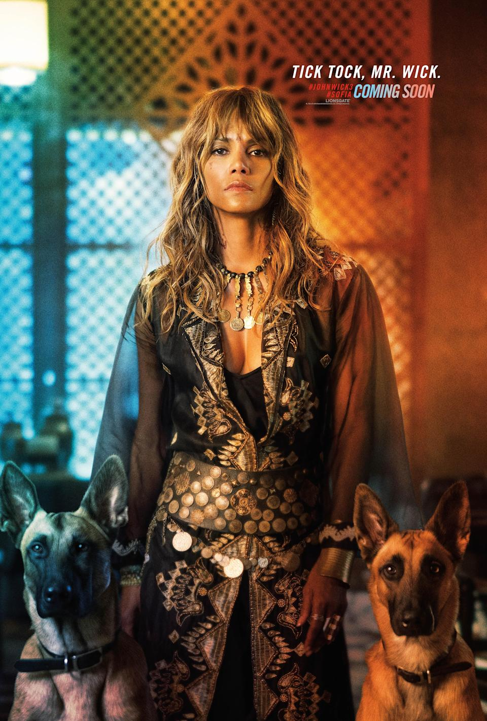 <p>Halle Berry's assassin Sofia has not one, but TWO dogs – we wonder if they'll get involved in an action sequence… </p>