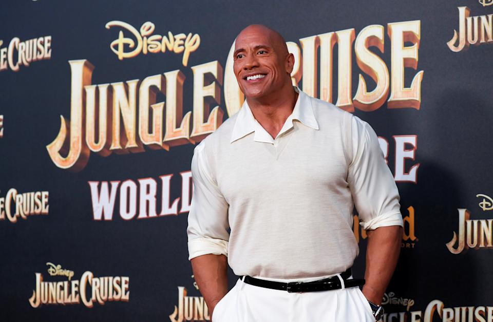 Cast member Dwayne Johnson attends the premiere for the film