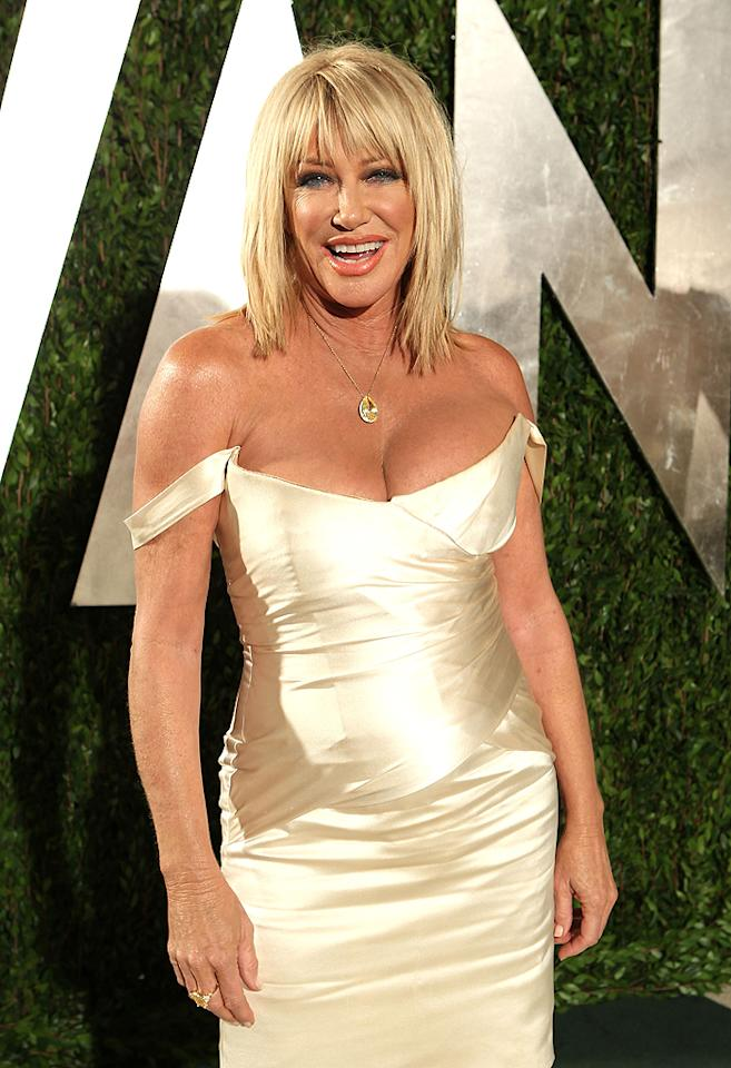 Suzanne Somers created a stir when, following surgery and radiation, she announced she was foregoing chemotherapy and opting to use an alternative therapy (Iscador, an extract of mistletoe) to treat her breast cancer instead. It worked, and in 2009, Somers released a book, <em>Knockout</em>, which endorses controversial alternative cancer treatments. (2/26/2012)