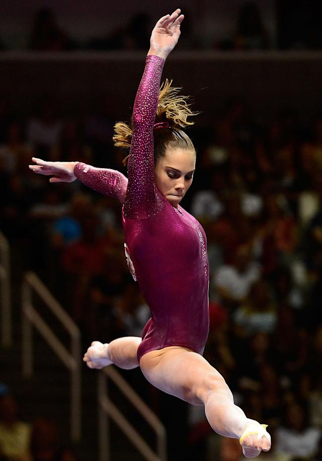 SAN JOSE, CA - JULY 01: McKayla Maroney competes on the balance beam during day 4 of the 2012 U.S. Olympic Gymnastics Team Trials at HP Pavilion on July 1, 2012 in San Jose, California. (Photo by Ronald Martinez/Getty Images)