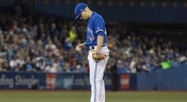 Toronto Blue Jays closer Roberto Osuna is off to a nightmare start to his 2017 season. (Fred Thornhill/CP)