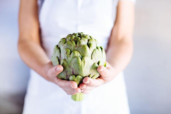 """<p>Both of these veggies contain plenty of fiber and prebiotics (which fuel the good bacteria in your gut to help your digestive system function efficiently). This recipe for <a href=""""https://www.prevention.com/food-nutrition/recipes/a20523150/artichokes-with-lemony-dressing/"""" rel=""""nofollow noopener"""" target=""""_blank"""" data-ylk=""""slk:Artichokes with Lemony Dressing"""" class=""""link rapid-noclick-resp"""">Artichokes with Lemony Dressing</a> makes for a great appetizer or side dish.</p>"""