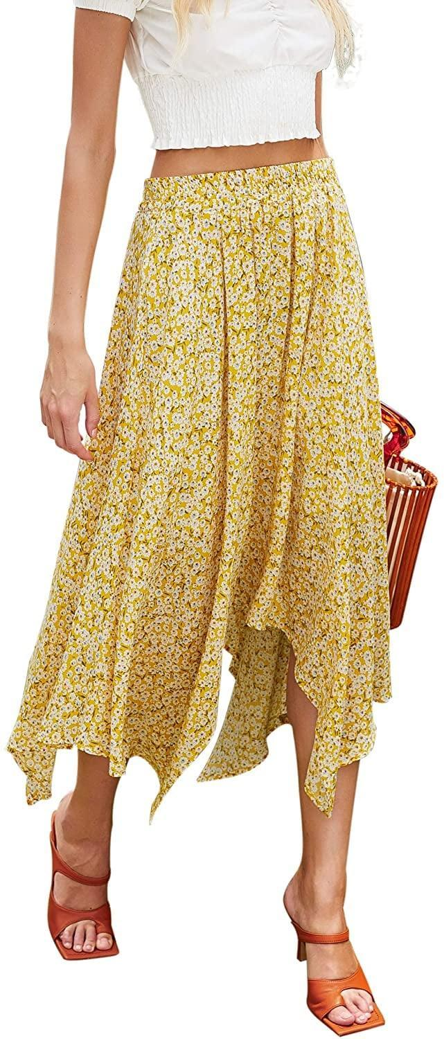 <p>This <span>Hibluco Floral Midi Skirt</span> ($25) is cute with sandals.</p>
