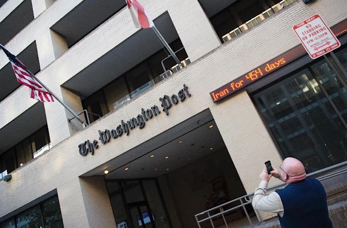 The Washington Post building, a short distance from the White House on 15th Street NW, was inaugurated in 1972 and was the scene of groundbreaking reporting on the Watergate scandal (AFP Photo/Jim Watson)