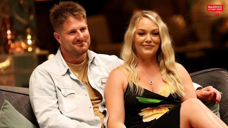 Married At First Sight's Bryce Ruthven and Melissa Rawson