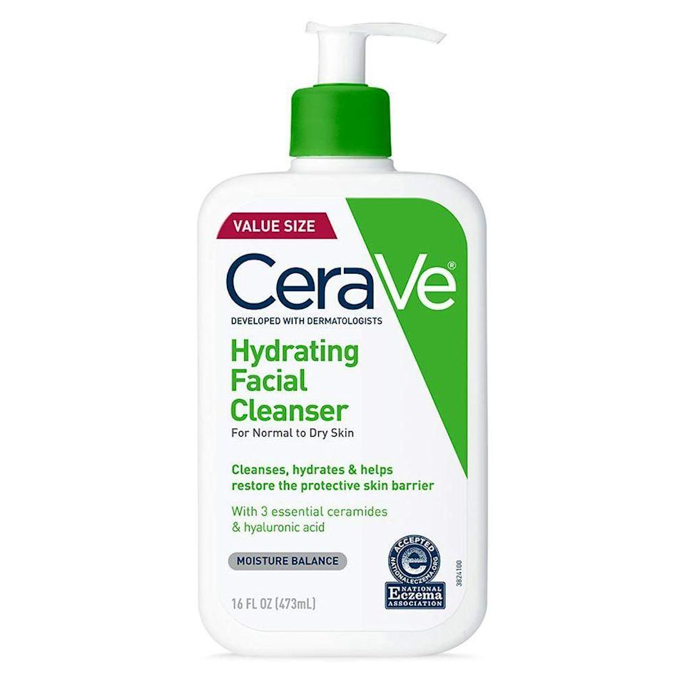 """<p><strong>CeraVe</strong></p><p>amazon.com</p><p><strong>$14.64</strong></p><p><a href=""""https://www.amazon.com/CeraVe-Hydrating-Facial-Cleanser-Fragrance/dp/B01MSSDEPK?tag=syn-yahoo-20&ascsubtag=%5Bartid%7C2089.g.33534382%5Bsrc%7Cyahoo-us"""" rel=""""nofollow noopener"""" target=""""_blank"""" data-ylk=""""slk:Shop Now"""" class=""""link rapid-noclick-resp"""">Shop Now</a></p><p><a href=""""https://www.tiktok.com/@sighlur/video/6837157580083842309"""" rel=""""nofollow noopener"""" target=""""_blank"""" data-ylk=""""slk:TikTokers across the globe"""" class=""""link rapid-noclick-resp"""">TikTokers across the globe</a> can't stop talking about CeraVe's skin-clarifying (and bargain-friendly) options. This cleanser is one of our favorite TikTok beauty products for its under-$15 price tag with a high-impact formula. It cleanses your skin to get rid of dirt and debris, without over-stripping your skin of its natural oils.</p><p><strong>More: </strong><a href=""""https://www.bestproducts.com/beauty/g2346/facial-steamer-machines-for-face-pores/"""" rel=""""nofollow noopener"""" target=""""_blank"""" data-ylk=""""slk:These Facial Steamers Are Perfect for DIY Spa Days"""" class=""""link rapid-noclick-resp"""">These Facial Steamers Are Perfect for DIY Spa Days</a></p>"""