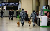 There was a heavy police presence at Vnukovo, AFP journalists at the airport said, after authorities warned that mass events would not be allowed because of Covid restrictions