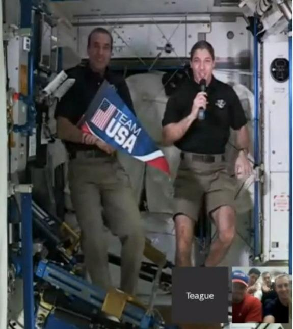 NASA Astronauts Talk Space Fitness with US Olympic Bobsled Team