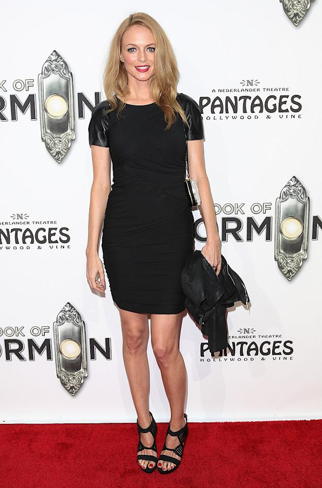 """The Hangover"" actress Heather Graham strutted her stuff in a sexy-yet-understated LBD. (9/12/2012)"