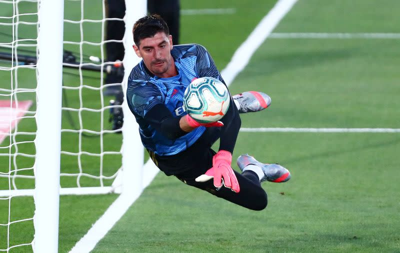 Towering Courtois proving Madrid's unlikely talisman