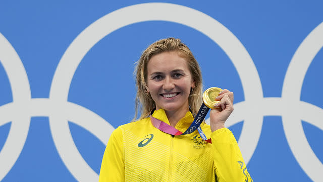 Australia's Ariarne Titmus beat swimming great Katie Ledecky to claim gold in the women's 400 metre freestyle swimming competition. She registered the second-fastest time in history of 3 minutes, 56.69 seconds. AP