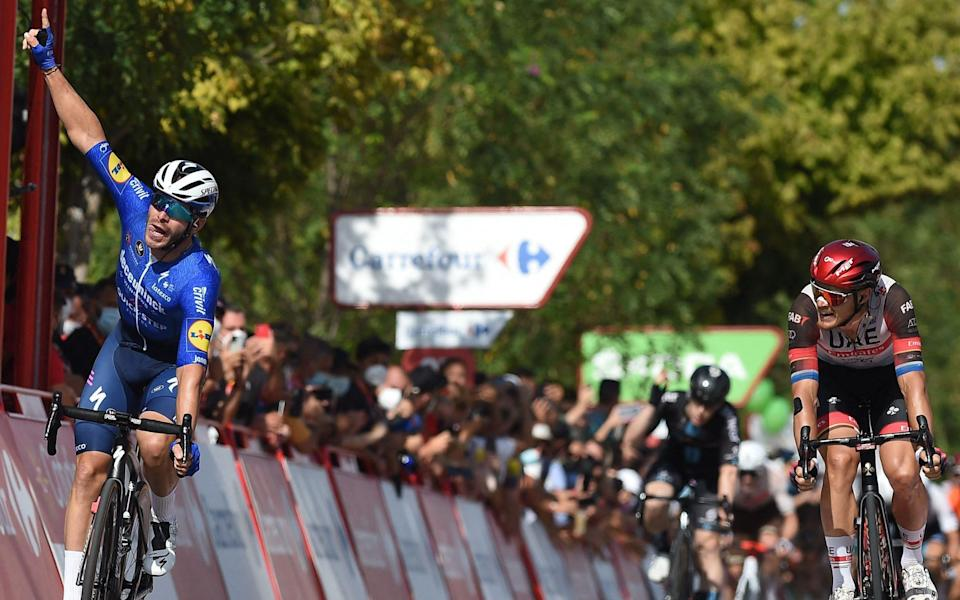 Florian Sénéchal and Matteo Trentin - all the latest news and results from the 2021 Vuelta a España - GETTY IMAGES
