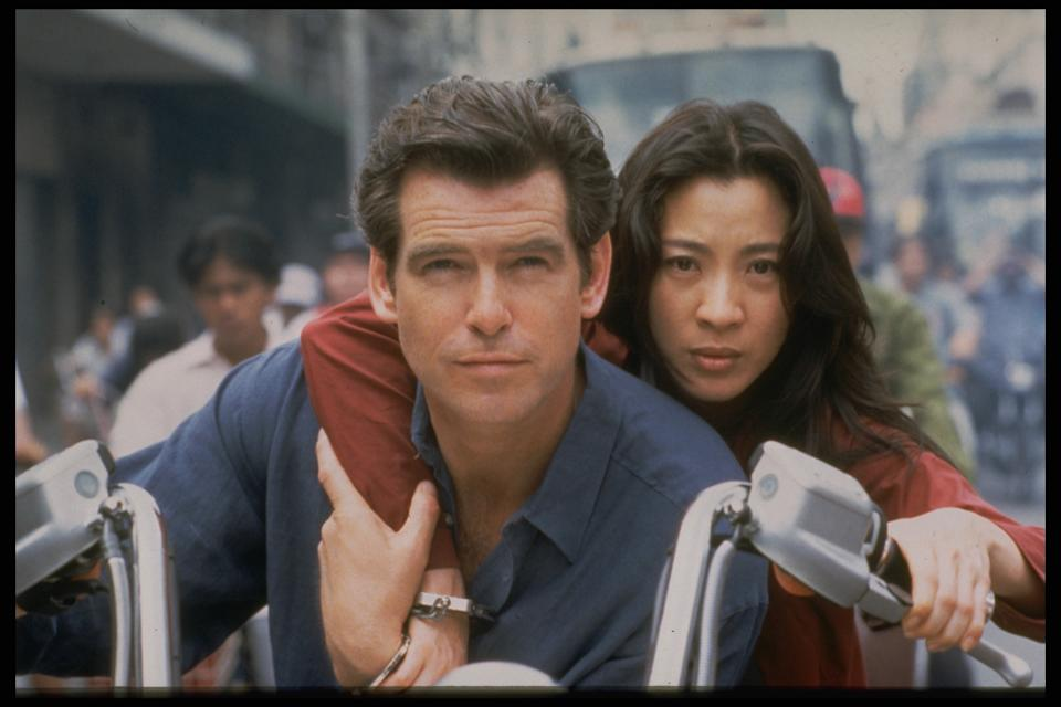 Tomorrow Never Dies motion picture, 1997. (Photo by Keith Hamshere/Sygma via Getty Images)