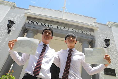 Magnus To (left) and Shum Yuk-ching from Diocesan Boys' School. Photo: Dickson Lee