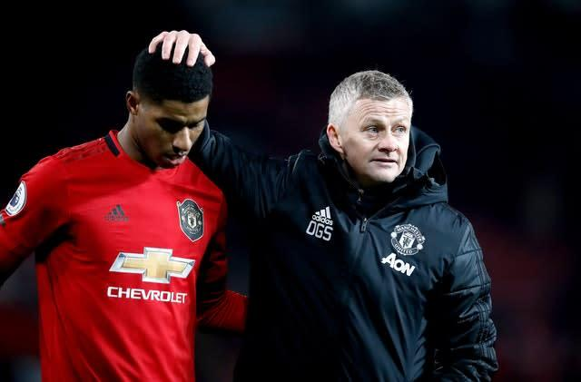 Ole Gunnar Solskjaer, right, is planning for the future at Old Trafford (Martin Rickett/PA)