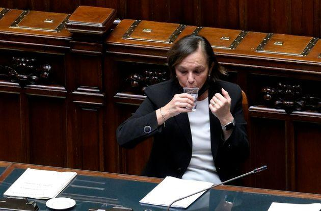 Italian Interior Minister, Luciana Lamorgese, during a Question Time at the Lower House on the management of public order during last Saturday's demonstration, Rome, Italy, 13 October 2021. ANSA/CLAUDIO PERI (Photo: ANSAANSA)