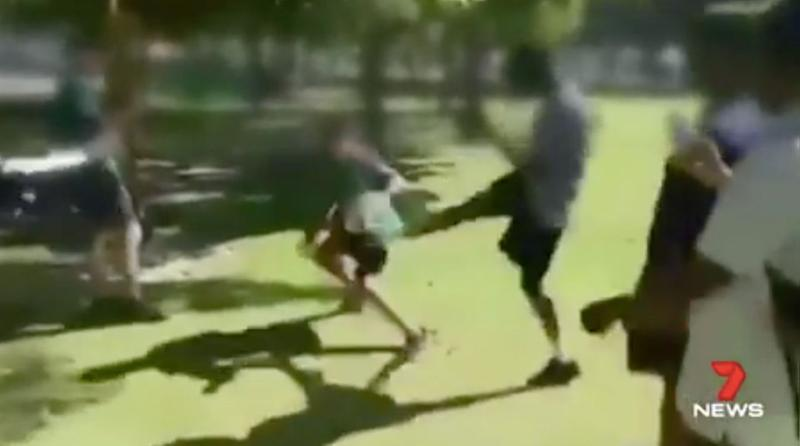 A fight between two students spiralled into something much bigger. Source: 7 News