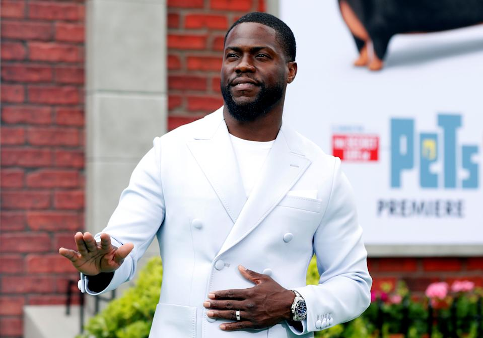 """Kevin Hart poses at the premiere for """"The Secret Life of Pets 2"""" in Los Angeles, California, U.S., June 2, 2019. REUTERS/Mario Anzuoni"""