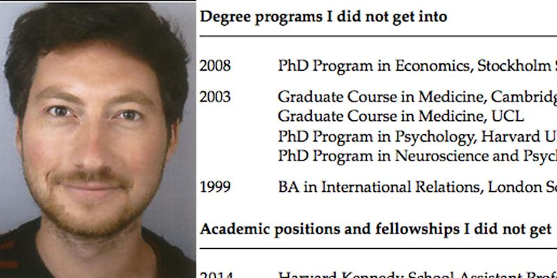 This Princeton Professor S Resume Of Failures Is The Most