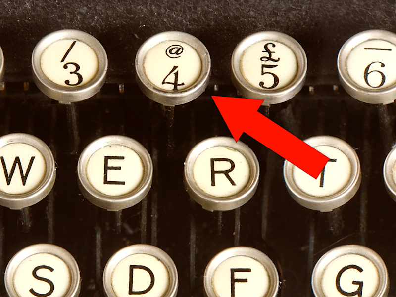 How the iconic '@' sign went from a forgotten typewriter key to a common symbol in email