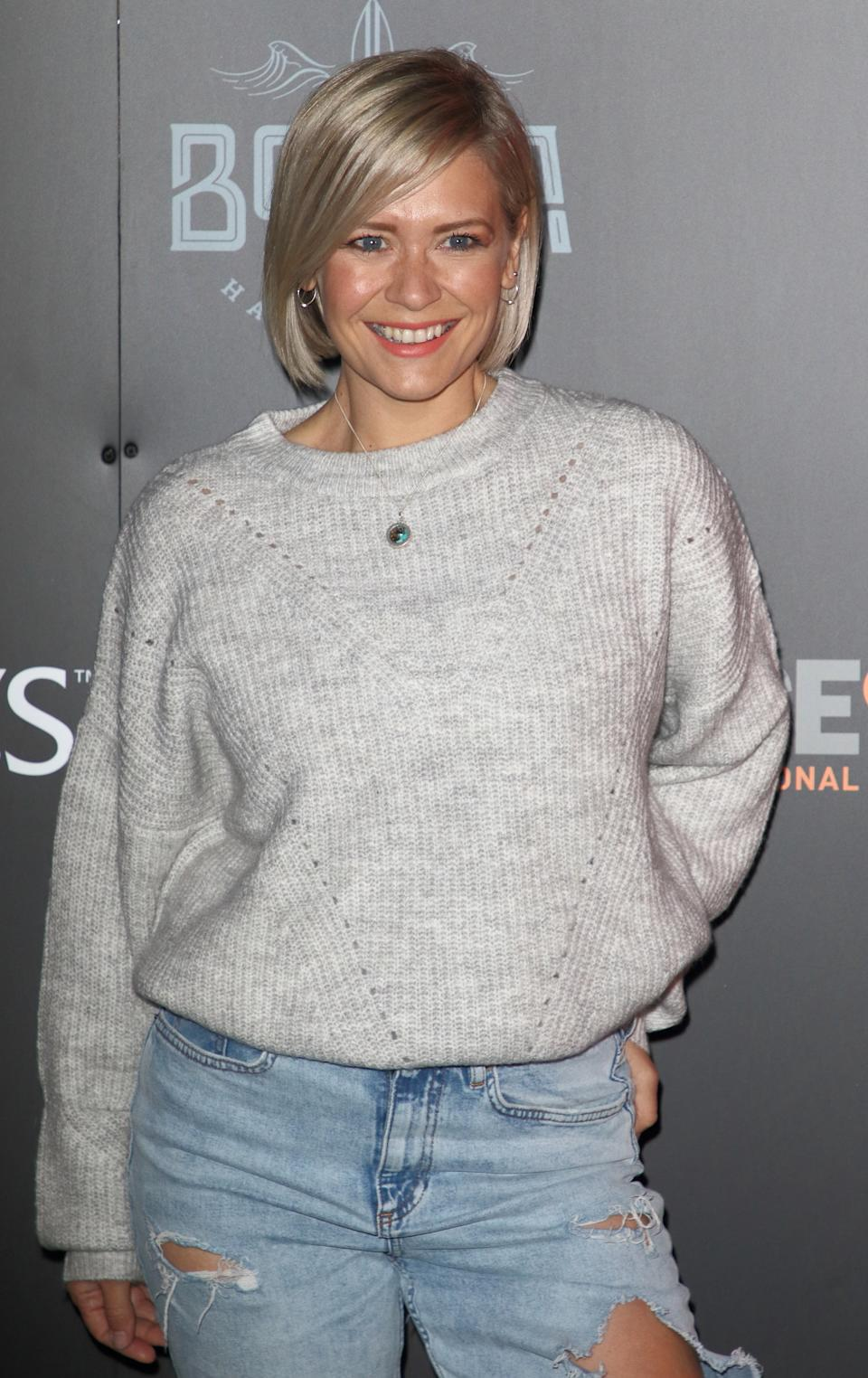 Suzanne Shaw attends the Tulleys Haunted Drive-In Cinema VIP night at Tulleys Farm Event Centre. (Photo by Keith Mayhew / SOPA Images/Sipa USA)