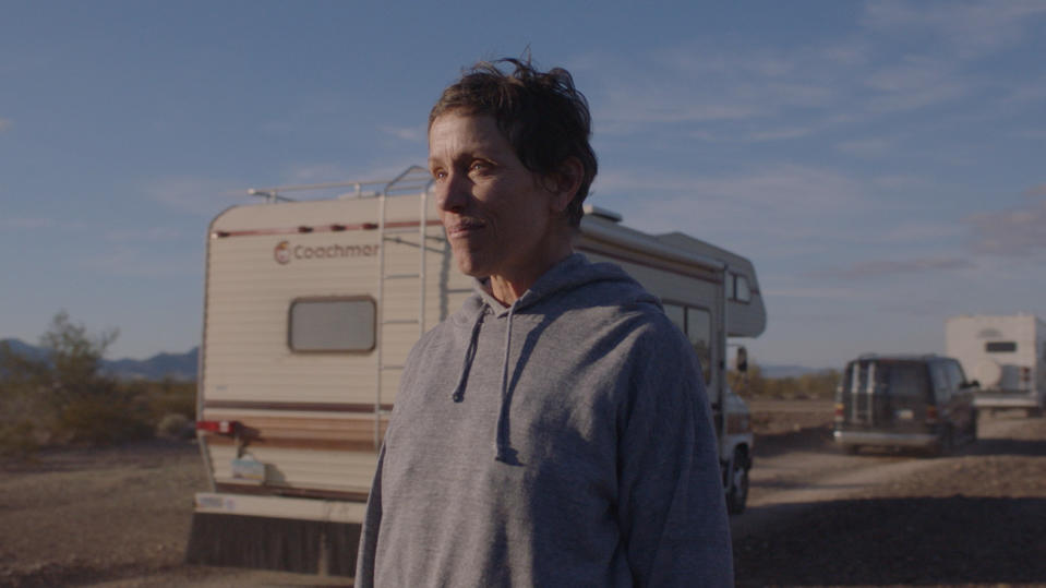 Frances McDormand in 'Nomadland'. (Credit: Searchlight Pictures)