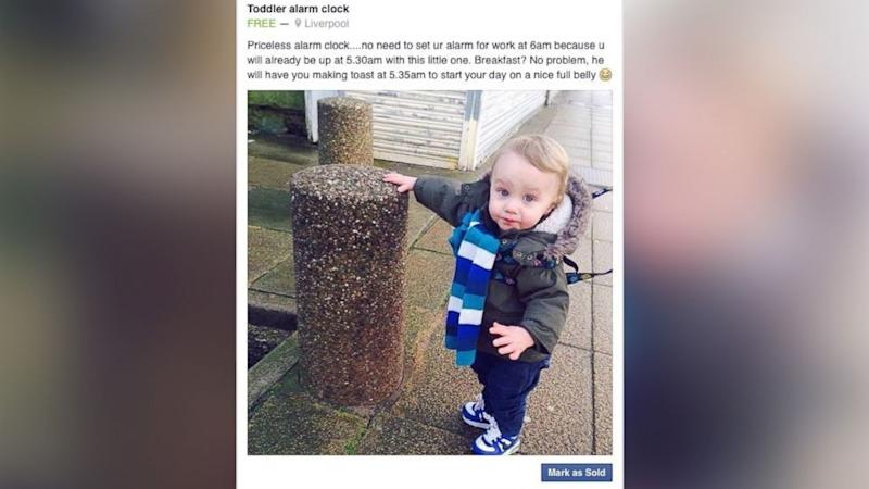 Dad Creates 'Toddler for Sale' Listing in Response to Son's Early Wake-Ups