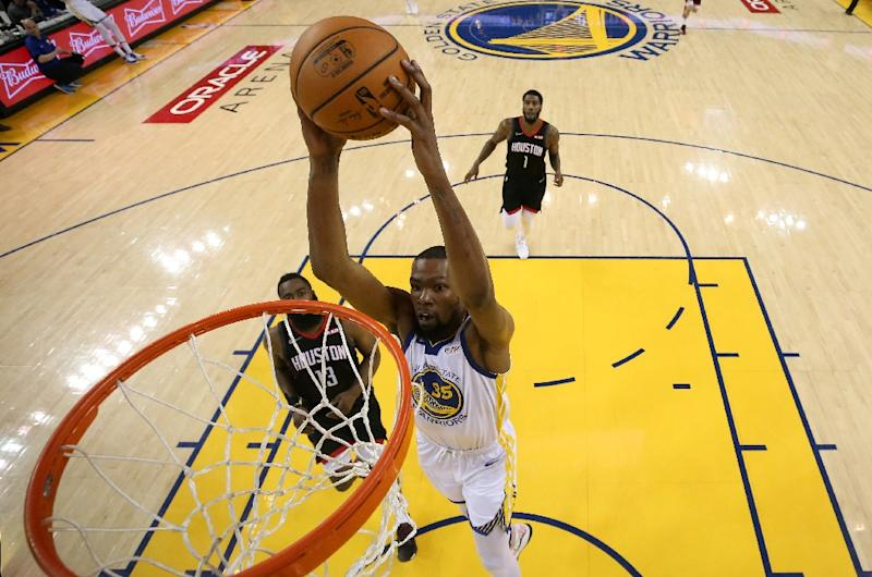 c3bd1132dbff Durant will miss remainder of Warriors series with Rockets