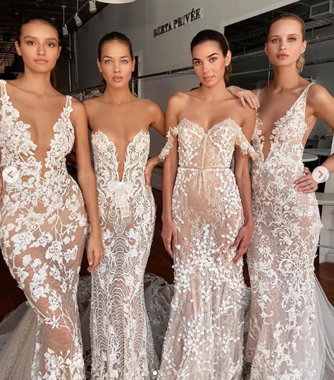 One was concerned a few of these dresses might slip right off. Photo: Instagram/ Berta