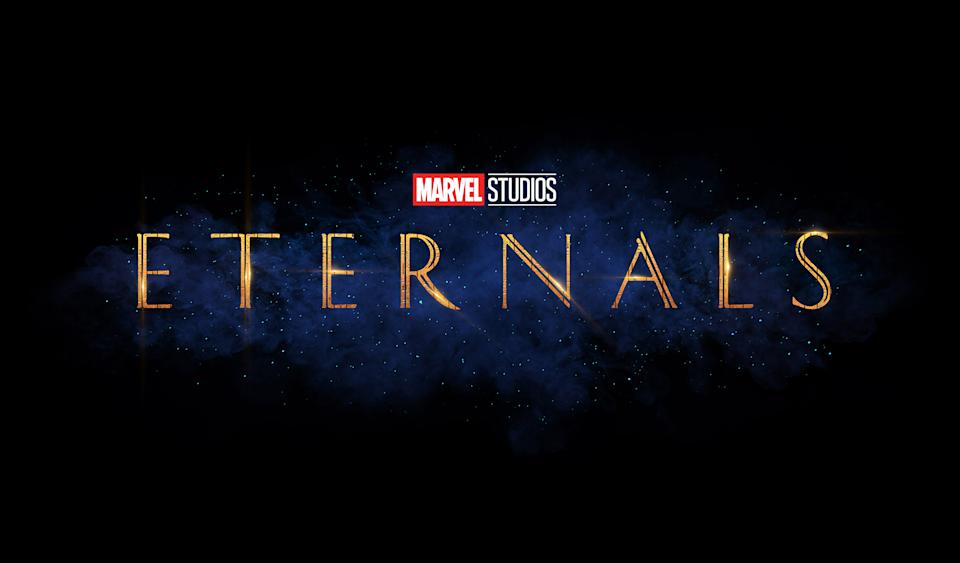The title treatment for Eternals (Disney)