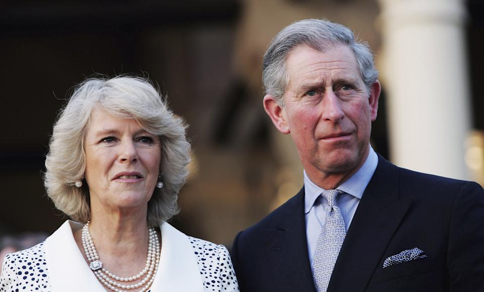 CAIRO, EGYPT - MARCH 20:  TRH Camilla, Duchess of Cornwall and Prince Charles, Prince of Wales attend an evening reception on the first day of their 12 day official tour visiting Egypt, Saudia Arabia and India, on March 20, 2006 in Cairo, Egypt. The visits provide an opportunity to support the UK's international contribution and profile, with key themes to promote better understanding and tolerance between faiths, supporting environmental and conservation intiatives, and encouraging sustainable employment and training opportunities for young people. This is the Royal couple's second joint overseas tour, and is the first time Charles has visited Egypt since March 1995.  (Photo by MJ Kim/Getty Images)