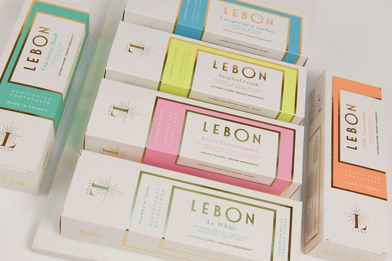 Several boxes of Lebon toothpaste