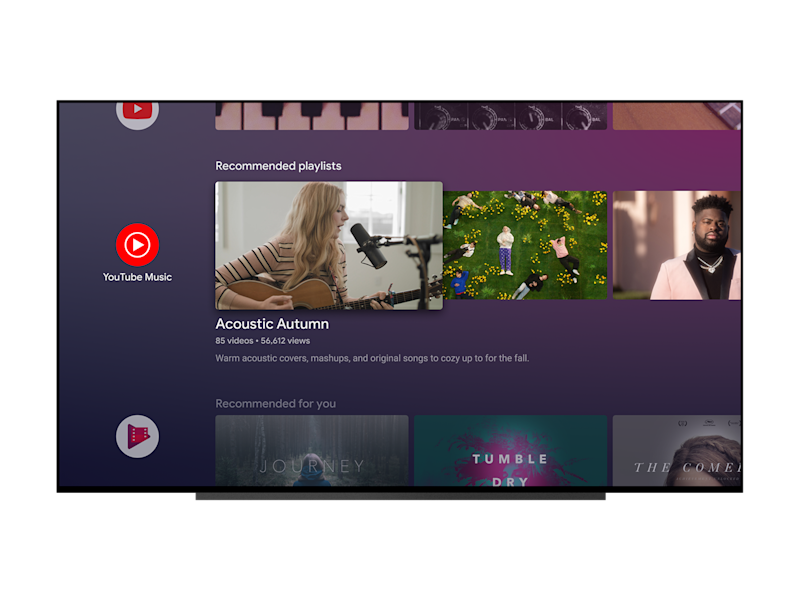 YouTube Music Android TV
