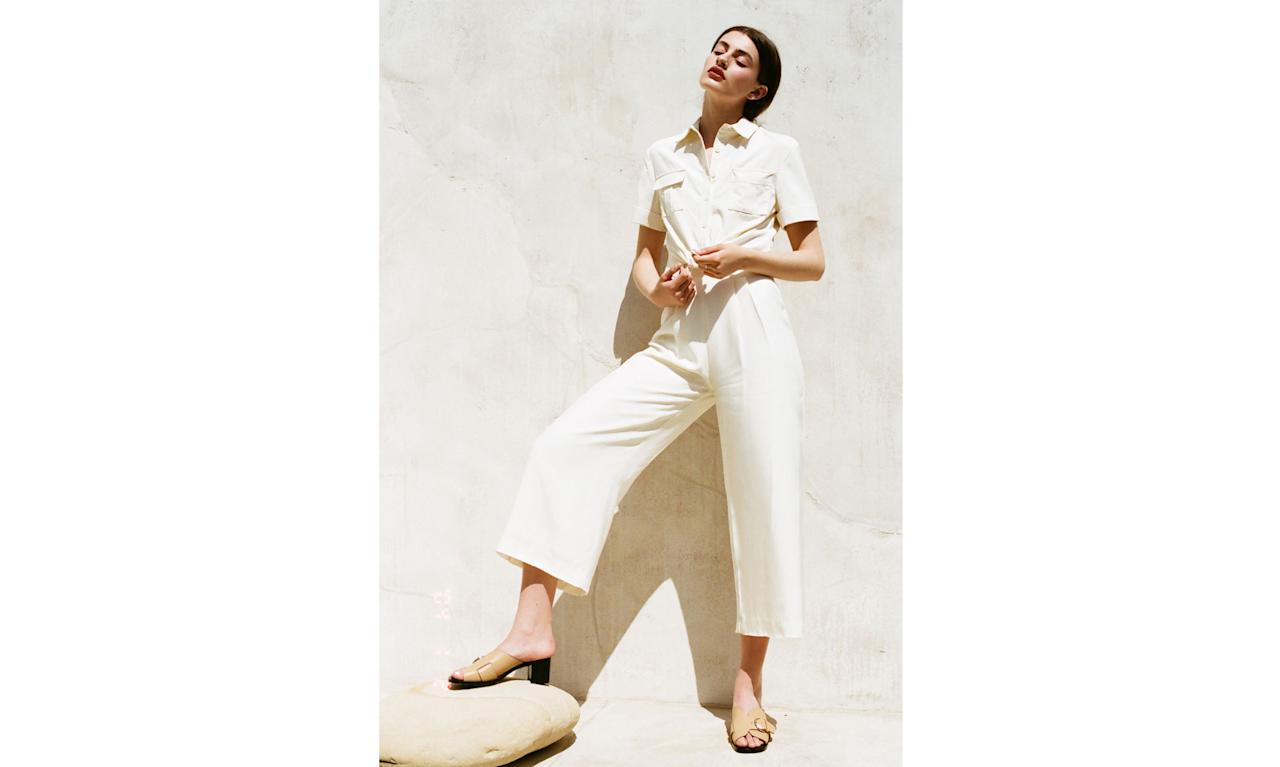 """<p><a rel=""""nofollow"""" href=""""https://staud.clothing/"""">Staud</a> was founded in 2015 by <span>Sarah Staudinger and George Augusto. The covet-worthy line includes bell-sleeved blouses, feminine maxi dresses, utilitarian jumpsuits, bucket bags, and more ($110-$275). Staud is both designed and manufactured in Los Angeles. </span><span>""""It's cliché to say LA is having a 'moment,' but it's just totally true,"""" Staudinger tells Yahoo Style. """"To be here and grow a business based here feels like we got in early on something that's about to explode. There is this influx of young creatives, and to have the opportunity to collaborate and grow the L.A. fashion community is amazing. There is no shortage of talent here right now. The weather doesn't suck, either."""" (Photo: Courtesy of Staud)</span> </p>"""