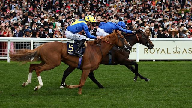 Blue Point completed the rare feat of winning both the King's Stand Stakes and Diamond Jubilee Stakes at Royal Ascot.