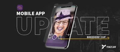 The newest version of the official Breeders' Cup mobile app, available for iOS and Android devices, introduces augmented reality filters that allow fans to take self-portraits modelling virtual fashions representing the Thoroughbred lifestyle.