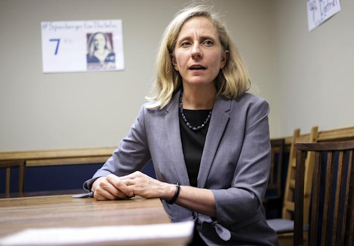 Abigail Spanberger speaks during an interview in Henrico, Va., in September. (Photo: Carlos Bernate/Bloomberg via Getty Images)