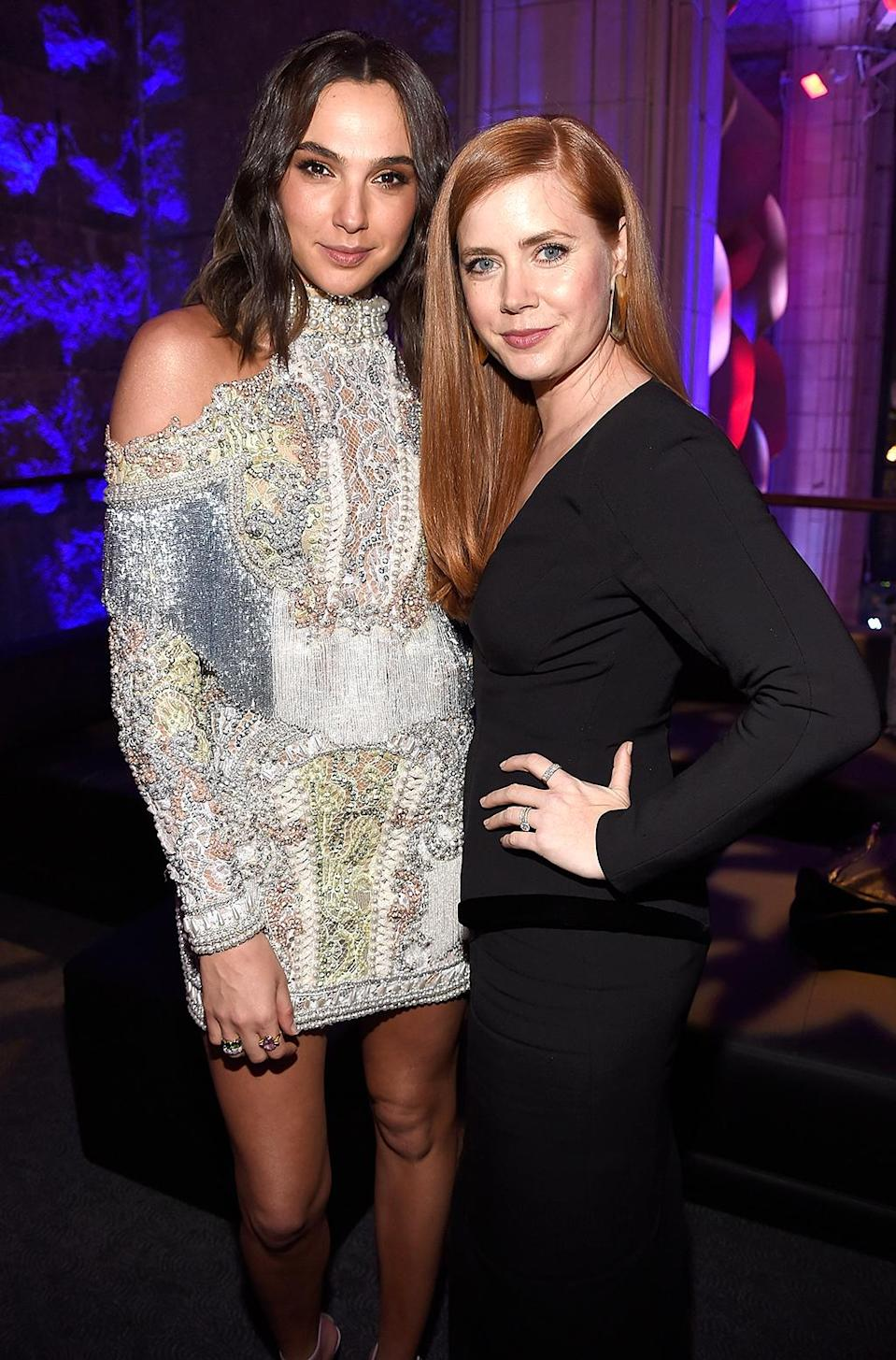 <p>Gadot and Amy Adams attend the after party for Batman v Superman: Dawn Of Justice on March 20, 2016 in New York City. (Photo: Kevin Mazur/Getty Images) </p>