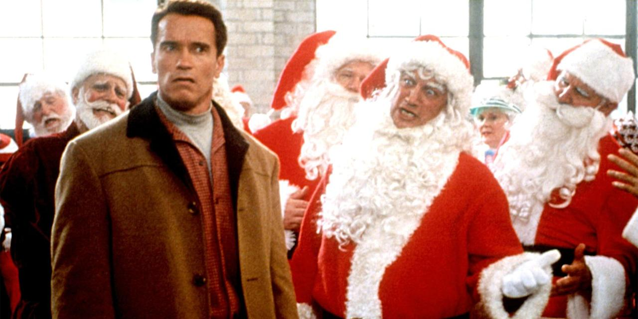 "<p>If Arnold Schwarzenegger listing all seven of Santa's reindeer while running through snowy streets and dodging his rival Turbo Man enthusiast, played by Sinbad, isn't funny, then give us coal for Christmas. It's a little bit silly, but the slapstick humor, quality Phil Hartman comedy, and twist ending in this delightful holiday flick are worth every smirk and giggle. <a class=""body-btn-link"" href=""https://www.amazon.com/Jingle-All-Way-Arnold-Schwarzenegger/dp/B00BUFPRBQ?tag=syn-yahoo-20&ascsubtag=%5Bartid%7C10056.g.13152053%5Bsrc%7Cyahoo-us"" target=""_blank"">Watch Now</a><br></p>"