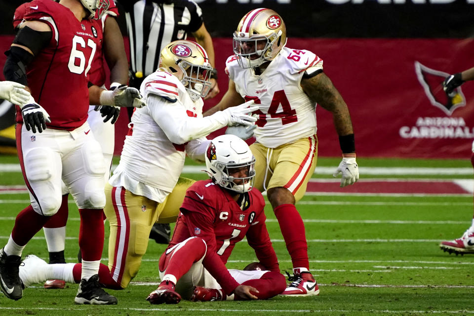 It was a rough day for Kyler Murray and the Arizona Cardinals. (AP Photo/Rick Scuteri)