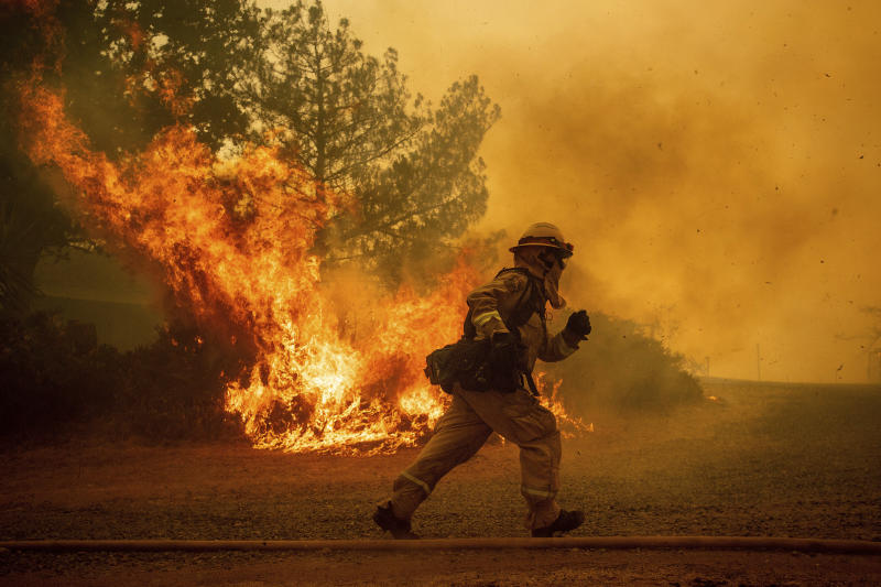 Florida firefighters report for duty on front lines of California fires