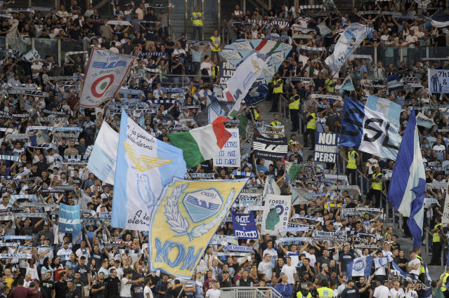 "A small group of Lazio fans stirred up controversy by telling women to avoid one section of their ""Curva Nord"" at the Stadio Olimpico. (Getty)"
