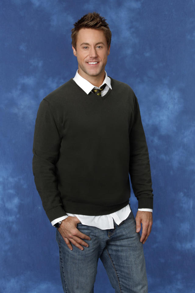"Aaron, 36, a biology teacher from Long Beach, CA is featured on the eighth edition of ""<a href=""http://tv.yahoo.com/bachelorette/show/34988"">The Bachelorette</a>."""