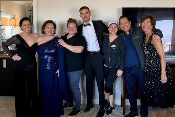 PHOTO: Rayka Zehtabchi's family gathers in her hotel room for a quick family photo before the Oscars. (Netflix)